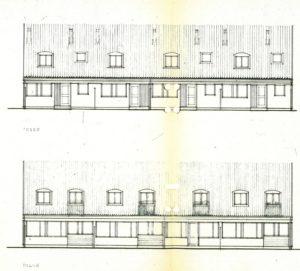 Sörlyckan: Fasad entrésida och baksida.