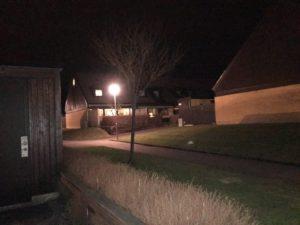 Sörlyckan: Tryggt med upplysta hus nattetid.