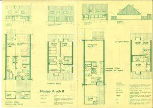 Sörlyckan: Planritning hustyp A och B.
